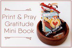 hybrid paper crafting gratitude mini book by Elaine Davis | Illustrated Faith Print & Pray