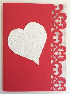 White Heart Valentine's Day Card