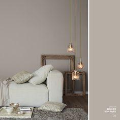 graue wand im wohnzimmer alpina feine farben no 06 d cher von paris wohnen wandfarbe. Black Bedroom Furniture Sets. Home Design Ideas