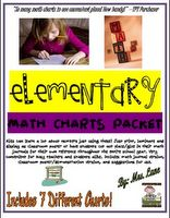 Free on TpT 1st Grade: Elementary Math Charts Packet