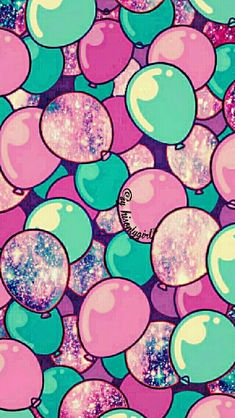 Cute galaxy balloons iPhone/Android wallpaper I created for the app CocoPPa