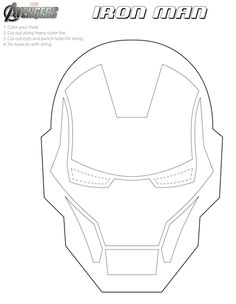 Avengers: Free Printable Coloring Masks.
