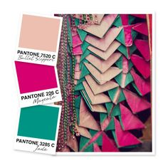 Light Pink Magenta And Jade Color Palette