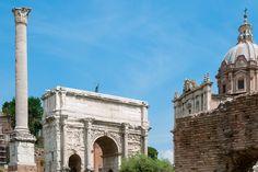 Der Triumphbogen des Septimus Severus im Forum Romanum, Rom, Italien