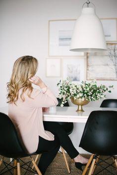 girly meets edgy dining room | lark & linen interior design