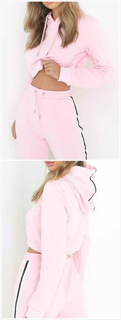 Women's Fashion Hooded 2 Piece Sweat Suit – Otoño Outfits Hip Hop Fashion, Urban Fashion, How To Tie Shoes, Textiles Y Moda, Sport Outfits, Cute Outfits, Sweats Outfit, Fashion Outfits, Womens Fashion