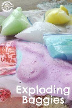 EXPLODING BAGGIES SCIENCE EXPERIMENT FOR KIDS - Kids Activities