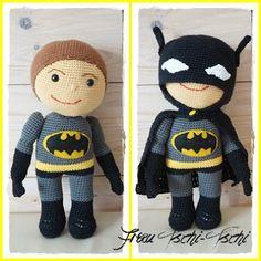 Frau Tschi-Tschi: Batman - Amigurumi - Anleitung kostenlos.  Crochet.  Free Patterns.