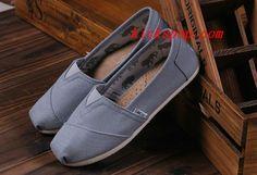 Toms Classic Mens Shoes Light Grey Canvas #Mens #Toms #Classics #Shoes