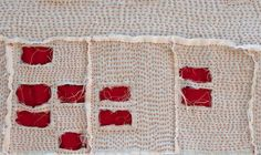 """Modesto Foreclosure Quilt (detail), 2011. 16"""" x 42"""" Tea stained voile, linen, cotton and embroidery thread. SOLD by kikiclark, via Flickr"""
