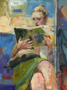 Lectoras, lecturas, verano (ilustración de Darren Thompson)