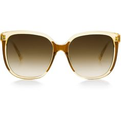 Steven Alan Optical - Elmont oversized sunglasses ($165) ❤ liked on Polyvore featuring accessories, eyewear, sunglasses, glasses, oversized sunglasses, gradient lens sunglasses, over sized sunglasses, oversized eyewear and oversized glasses