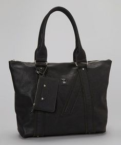 Loving this Black V Tote & Coin Purse on #zulily! #zulilyfinds