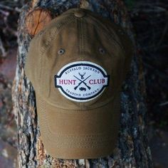 991488dd9293ca Our waxed canvas hat is made with the same durable waxed canvas as our  signature bags. The Hunt Club baseball hat is sure to be your new favorite.