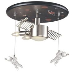 """Space Station 16"""" Wide Ceiling Light Fixture -- not really, just wanted to make you smile"""