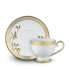 Prouna Golden Leaves Teacup & Saucer Home - Bloomingdale's Coffee Cups And Saucers, Tea Cup Saucer, Tea Cups, Terracotta, Pioneer Woman Dinnerware, Golden Leaves, China Sets, Chocolate Cups, China Dinnerware
