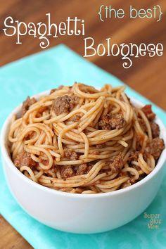 Easy, delicious, authentic spaghetti bolognese recipe