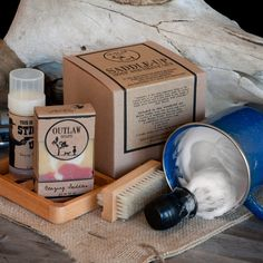 Saddle-up soap and shave set, for the manly man man man in your life. Did I mention man?