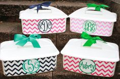 Personalized Shower Caddy  - - - Must-Haves for Camp and Dorm Room - - - Assorted Colors/Designs on Etsy, $20.00