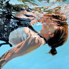 Amazing underwater paintings by Samantha French.