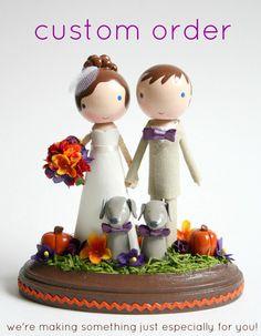 custom wedding cake topper - order for - KATEJACOB. $200.00, via Etsy.