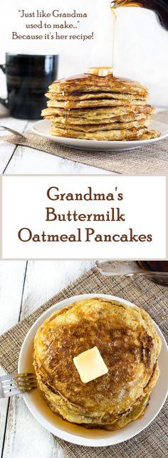 Grandma's Buttermilk Oatmeal Pancakes Recipe