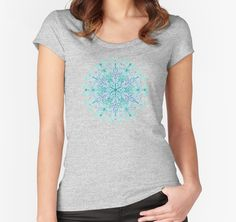 """ Peppermint Snowflake on Cream"" T-Shirts & Hoodies by micklyn 