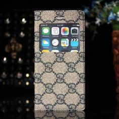 Gucci iPhone 6 and iPhone 6 Plus Blue Case Window Cover Book Style 2015 - Get Case - iPhoneProtectiveCases.com
