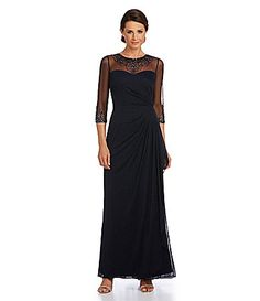 9a6af91facf Patra Beaded Matte Chiffon Gown  Dillards Mother Of The Bride Fashion