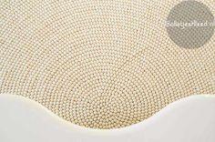 Bolletjes-tapijt Rond-Wit-Vilt-Design woonkamer