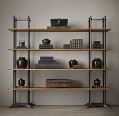 """Mercantile Double Shelving DIMENSIONS: 94½""""W x 23¾""""D x 84""""H Weight: 361 lbs."""