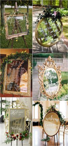 Vintage mirror wedding sign ideas for 2018 #vintageweddings #weddingdecor #weddingideas #weddingsigns