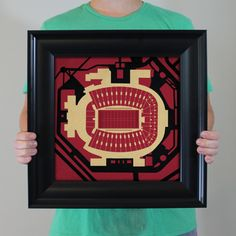 Doak S. Campbell Stadium located at Florida State University in Tallahassee, Florida. | College football prints from City Prints put you back in the stands on Saturdays. City Prints look like modern art and remind you of the unforgettable moments you experienced in your favorite seats
