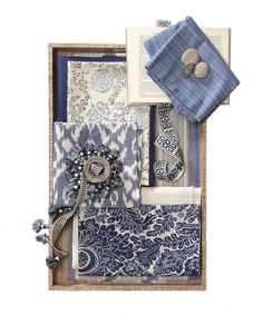 Bronte Fabric Collection. Image: Calico Corners. #fabric #inspiration #blue_and_white
