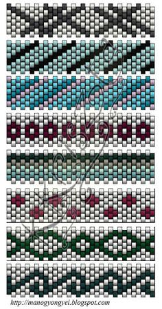 Bogyosak - Györgyi - Picasa-verkkoalbumit.  Turn these patterns on their sides, and they become BRICK STITCH patterns.