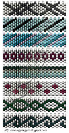 Bogyosak - Györgyi - Picasa-verkkoalbumit.  Turn these patterns on their sides, and they become BRICK STITCH patterns.