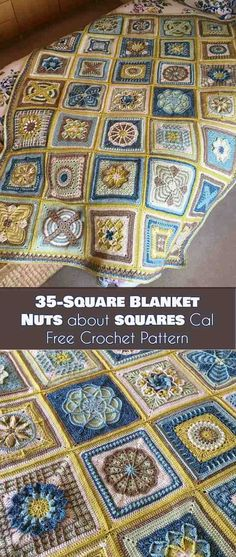35-Square Blanket - Nuts about