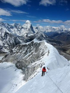 snow ridge, nepal