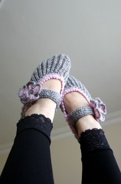 Free Shpping Grey and Sugar Pink Home Slippers Mothers Day gift Under30
