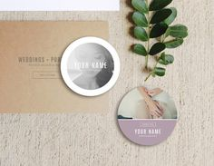 Sticker Designs - Wedding Photographer Templates INSTANT DOWNLOAD!!* *Photoshop files available in your Etsy account immediately after