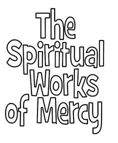 Spiritual Works of Mercy Teaching Tools