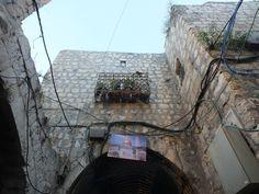 Jerusalem streets- old town hsitorical area mescid el aqsa