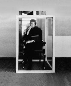 """Timm Ulrichs  """"Timm Ulrichs, first living work of art (exhibiting himself), 1961 (Unjuried Art Exhibition, Berlin, 1965)"""""""