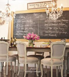 French Country Cottage Large Chalkboard Frame For Menu