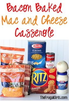Bacon Baked Mac and Cheese Casserole Recipe! ~ from TheFrugalGirls.com ~ this Easy Macaroni and Cheese dinner pasta dish is the perfect balance of comfort food and delicious flavor! #casseroles #recipes #thefrugalgirls