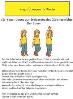 Picture and text material for first simple yoga exercises. Included in the material i … - Yoga und Fitness - ENG Yoga Fitness, After School Club, Daily Health Tips, Relaxing Yoga, Yoga For Kids, Leadership Quotes, Kids Sports, Yoga Meditation, Kids And Parenting
