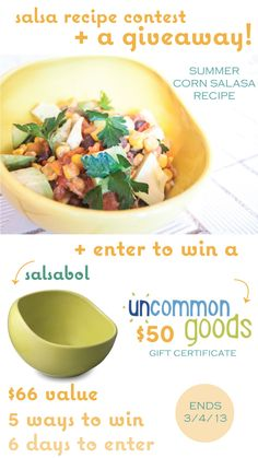 uncommongoods salsabol contest and giveaway!