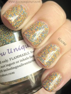 Goose's Glitter: Nailventurous - Floam, Pinkerbell, Orange You Unique, and Humble Bee