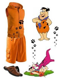 """""""Fred Flintstone"""" by mozzy18 ❤ liked on Polyvore featuring TYR, Hush Puppies, men's fashion and menswear"""