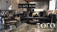 Canapeaua cu spatar extensibil din setul Gloria living se poate transforma intr-un luxos dormitor de o persoana si poate fi achizitionata direct din Showroom-ul #TORO Luxury, Bd. Pipera 200A.  Rezervari si comenzi: 0746 661 384    Preturi: 1 canapea + 2 fotolii + 1 masa de centru=12.605 RON, TVA inclus (pret de showroom) in limita stocului disponibil. Couch, Luxury, Furniture, Home Decor, Homemade Home Decor, Sofa, Sofas, Home Furnishings, Interior Design